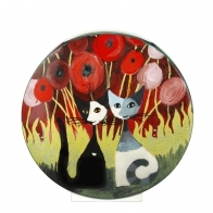 Wazon 30 cm Zakochaj się wśród maków - Koty Rosina Wachtmeister Goebel 66860591