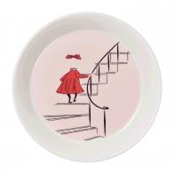 Talerz Ninni 19 cm różowa - Muminki