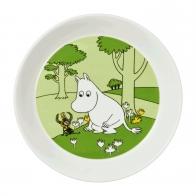 Talerz Muminek 19 cm zielony - Muminki