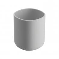 Kubek na szczoteczki do zębów Birillo biały 11 cm - Alessi