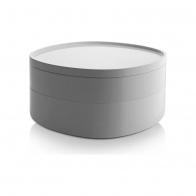 Organizer łazienkowy Birillo biały 18 cm - Alessi PL17 w