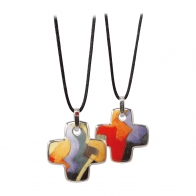 Naszyjnik Kolorowe kształty 4 cm - Auguste Macke