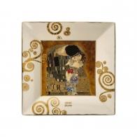 Talerz kwadratowy 12 x 12 cm Pocałunek - Gustav Klimt Goebel 66516231