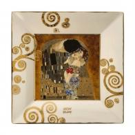 Talerz kwadratowy 16 x 16 cm Pocałunek - Gustav Klimt Goebel 66516731