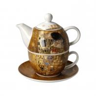 Zestaw Tea For One 15 cm 0,35 l Pocałunek Gustaw Klimt Goebel 67013601