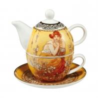 Zestaw Tea For One 15 cm 0,35 l Topaz - Alfons Mucha Goebel 67013591