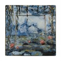 Talerz kwadratowy 16 x 16 cm Lilie Wodne z Wierzbą - Claude Monet Goebel 66-516-72-1