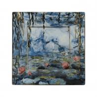 Talerz kwadratowy 12 x 12 cm Lilie Wodne z Wierzbą - Claude Monet Goebel 66516221 Goebel 66516221