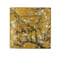 Talerz kwadratowy 12 x 12 cm - Drzewo Migdałowe Złote - Vincent van Gogh Goebel 66516211