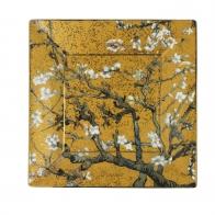 Talerz kwadratowy 16 x 16 cm - Drzewo Migdałowe Złote - Vincent van Gogh Goebel 66516711