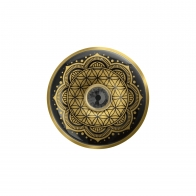 Broszka Kwiat Życia czarny 5 cm - Lotus Goebel 23500571
