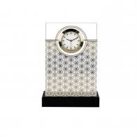 Zegar na biurko Kwiat Życia biały 15 cm - Lotus