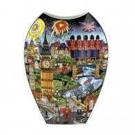 Wazon Visit Paris / Lights of London 30 cm - Charles Fazzino