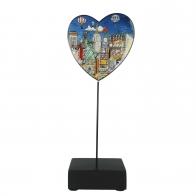 Figurka Balonowa wycieczka nad Nowym Jorkiem 31 cm - Charles Fazzino 67090201 Goebel
