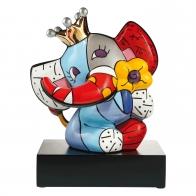 Figurka Spring Elephant słoń w koronie kolorowy 33 cm - Romero Britto Goebel 66452561