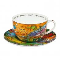Filiżanka do herbaty I Love Sky Stuff 500 ml - James Rizzi Goebel 26102481