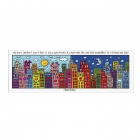 Tablica magnetyczna My City Doesnt Sleep 27 x 21 cm - James Rizzi Goebel 26101631