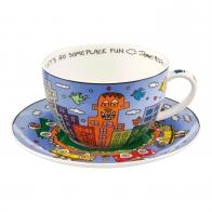 Filiżanka do herbaty Lets Go Out for Fun 500 ml - James Rizzi Goebel 26102031