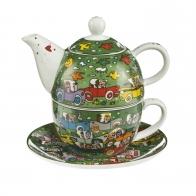 Zestaw Tea For One 15cm/0,35 l Crosstown Traffic - James Rizzi Goebel 26102351