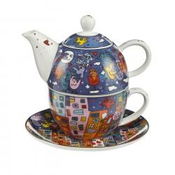 Zestaw Tea For One 15 cm / 0,35 l City Birds - James Rizzi