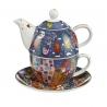Zestaw Tea For One 15 cm / 0,35 l City Birds - James Rizzi Goebel 26102361
