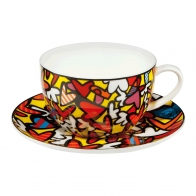 Filiżanka do herbaty Hearts 0,5 l - Romero Britto Goebel 66452531