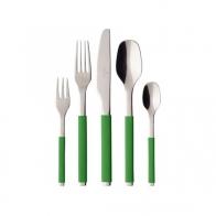 Komplet sztućców 30 elementów - S+ Green Apple