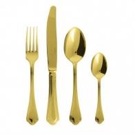 Komplet sztućców Filet Toiras Gold 24 szt. pozłacane - Sambonet