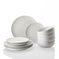 Zestaw obiadowy 12 sztuk - Joyn White