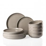 Zestaw obiadowy 12 sztuk - Joyn Grey