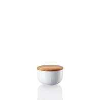 Cukiernica z drewnianą pokrywką 280 ml - Joyn White