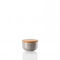 Cukiernica z drewnianą pokrywką 280 ml - Joyn Grey