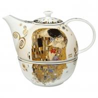 Dzbanek z podgrzewaczem 20 cm - Pocałunek Gustaw Klimt
