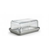 Maselniczka stalowa ze szklaną pokrywką - Alessi