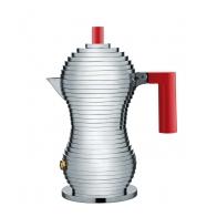 Zaparzacz do espresso Pulcina czerwony uchwyt 150 ml - Michele De Lucchi