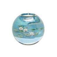 Świecznik - Tealight 10cm - Lilie Wodne - Claude Monet