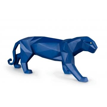 Figurka Pantera niebieski mat 50 cm - Lladro 01009456