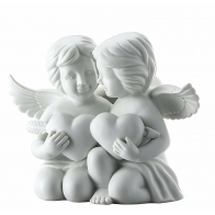 Figurka - Para aniołów z sercem, duża 14 cm 69056-000102-90526