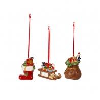 Zestaw 3 ozdób świątecznych wiszących - Nostalgic Ornaments VILLEROY & BOCH 1483316685
