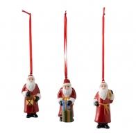 Zestaw 3 ozdób świątecznych wiszących Św. Mikołaj - Nostalgic Ornaments VILLEROY & BOCH 1483316687