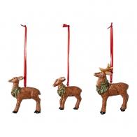 Zestaw 3 ozdób świątecznych wiszących Rodzina jeleni - Nostalgic Ornaments VILLEROY & BOCH 1483316688