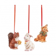 Zestaw 3 ozdób świątecznych wiszących Leśne zwierzęta - Nostalgic Ornaments VILLEROY & BOCH 1483316689
