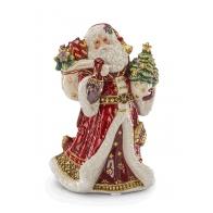 Św. Mikołaj z prezentami i choinką 25 cm - Fitz and Floyd 1017286