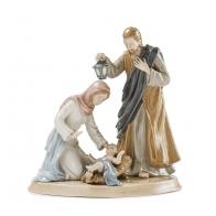 Św. Rodzina Maryja, Józef i Jezus w żłobku 27 cm - Palais Royal 1018332
