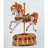 Świąteczna pozytywka z koniem 18 cm - Noel
