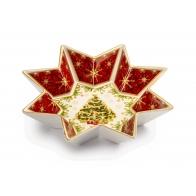 Talerz świąteczny w kształcie gwiazdy 25 cm - Natale Con I Fiocchi - Palais Royal