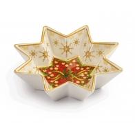 Talerz świąteczny w kształcie gwiazdy 17 cm - Natale Con I Fiocchi - Palais Royal