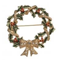 Świąteczna ozdoba broszka 5 cm - Il Luccichio delle Feste - Noel
