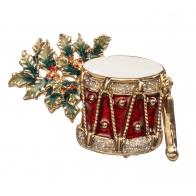 Świąteczna ozdoba broszka 4,5 cm - Il Luccichio delle Feste - Noel