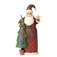 Figurka Mikołaj z choinką 22cm Jim Shore